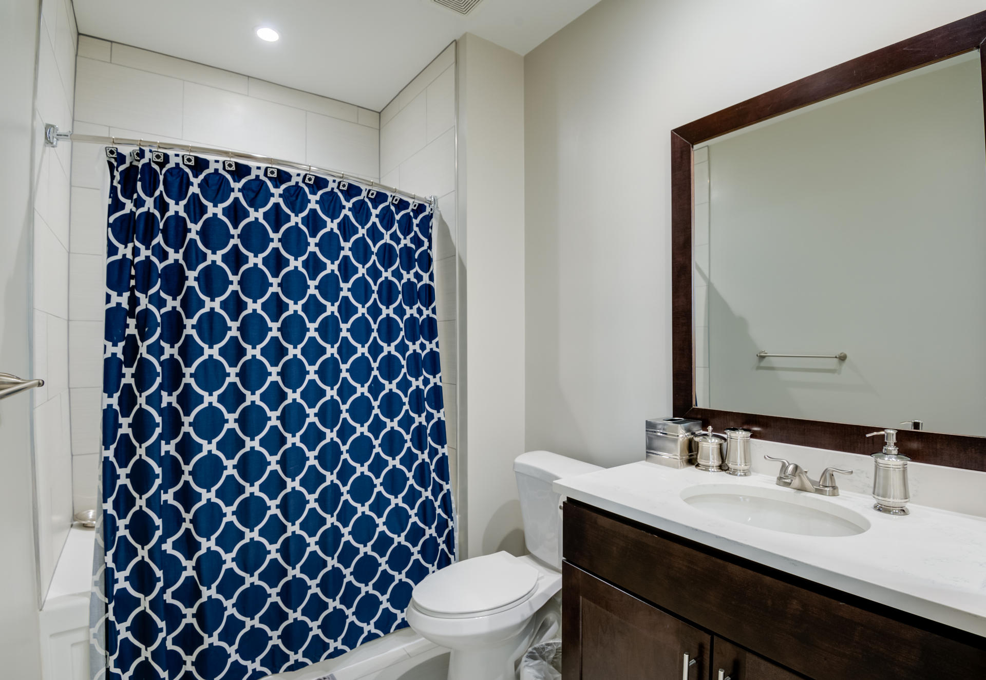 Modern bathroom features help start your day in style.