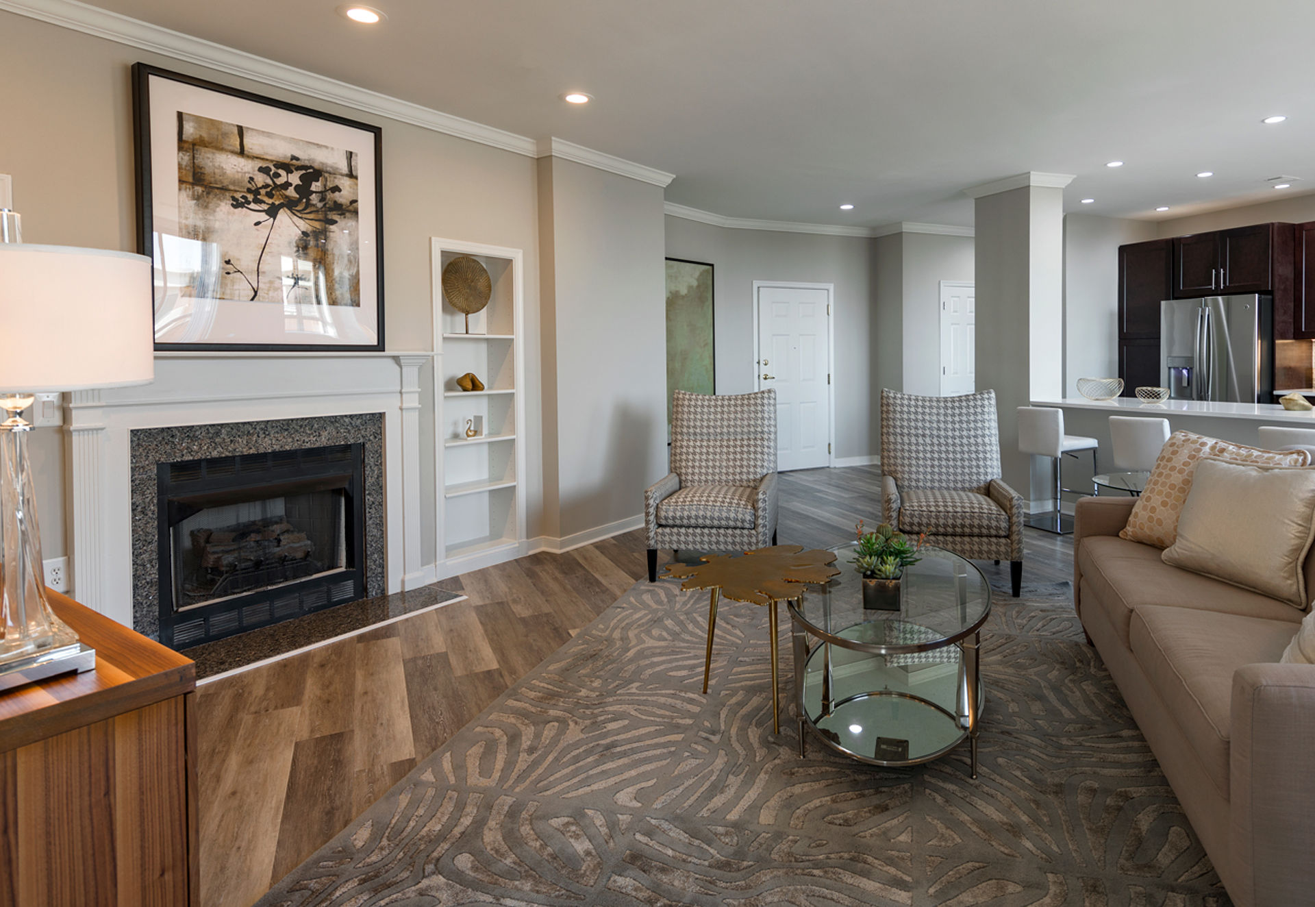 Fireplaces in select homes.